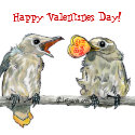 funny birds valentines day magnet keepsake