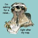 cartoon sloth office worker