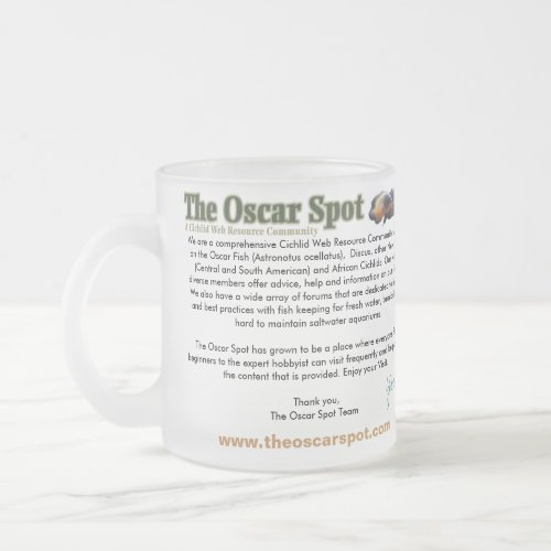 About The Oscar Spot mug