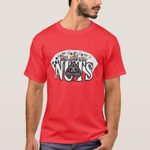 Got The Nuts -  Poker Shirt - Spades - DARK shirt