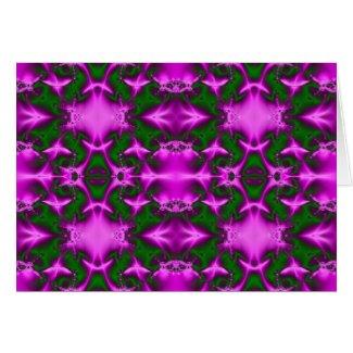 pink green fractal card