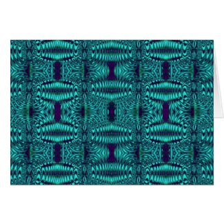fractal turquoise card