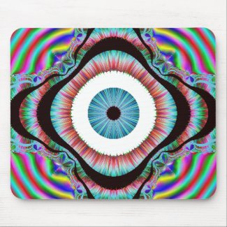 Too Much Distraction? Image of eye mousepad from zazzle