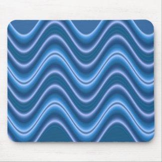 wave blue mousepad