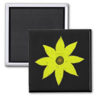 Yellow flower magnet