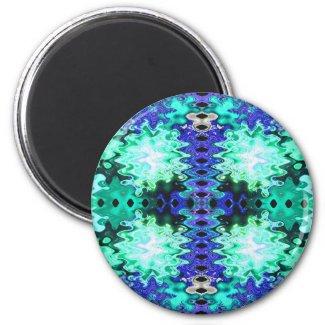 puffs blue green magnet