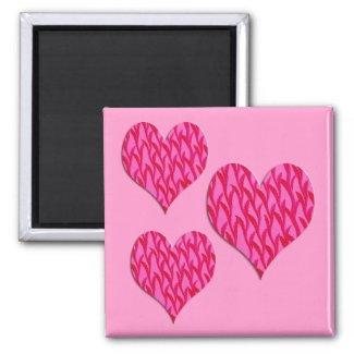 pink vine hearts magnet
