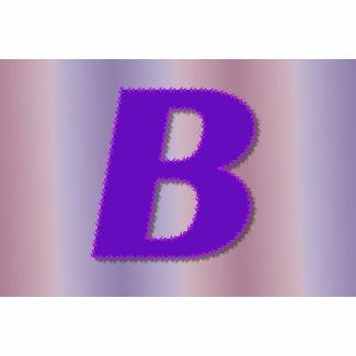 B purple monogram bag