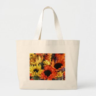 Classic Canvas Bag with Sunflowers bag