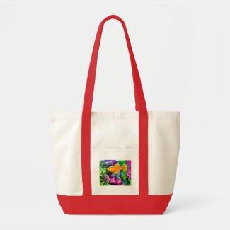 Hand-Painted Goldfish Bag bag