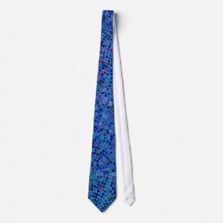tiles blue tie