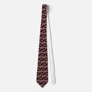 No Whining Tie - BLACK tie