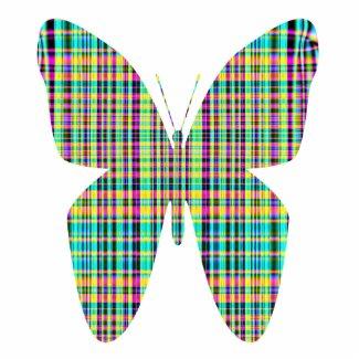 plaid butterfly photosculpture