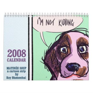 Bambi stars in her very own Matinee Soup 2008 Calendar, now on selling at Zazzle!