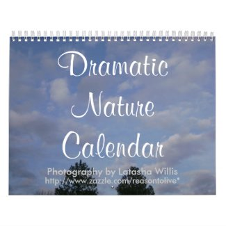 Dramatic Nature Calendar calendar
