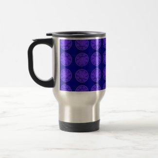 flowers blue mug