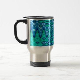 groovy horizon blue mug