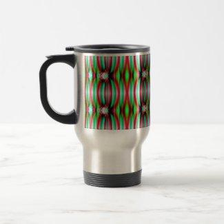 striped rainbow mug