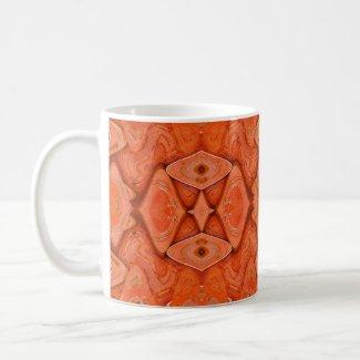 pretty orange mug
