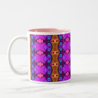 Pink Ribbon Fractal mug