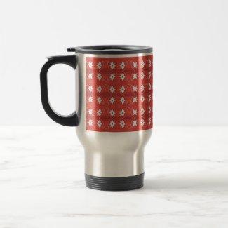 red star flower mug