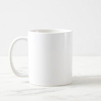Inquisitive little dog cartoon mug mug