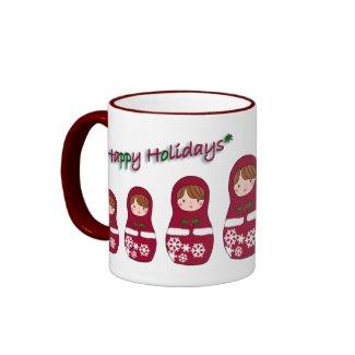 Matryoshka Christmas Mug mug