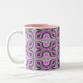 pink fractal mug