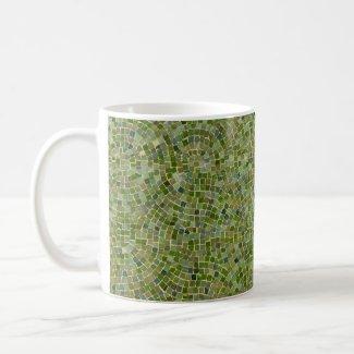 tiles green mug
