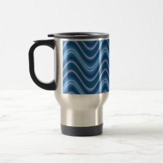 wave blue mug