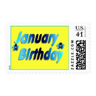 January Birthday 5 stamp