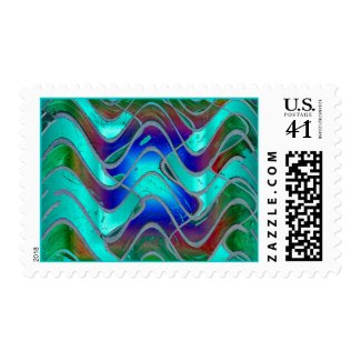 Turqouise Glow stamp