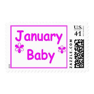 January Baby 8 stamp