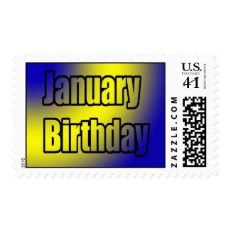 January Birthday stamp