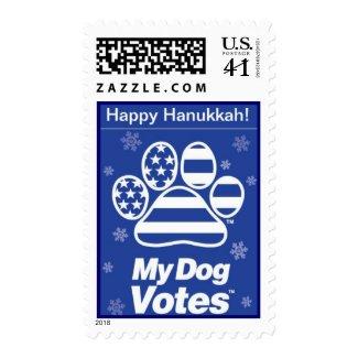 Happy Hanukkah Stamp From My Dog Votes stamp