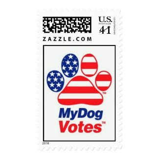 My Dog Votes In The USA Stamp stamp