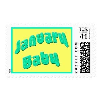 january baby stamp