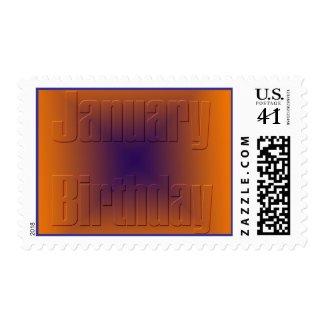 January Birthday 3 stamp