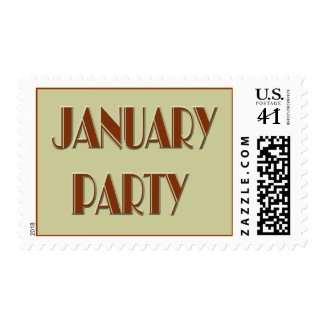 january party 5 stamp
