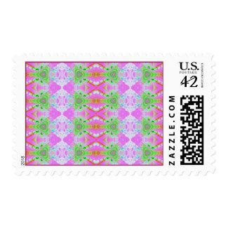 pink fractal pattern stamp
