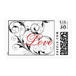 Love in Scroll Postage stamp