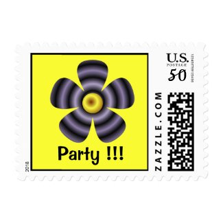 floral Party stamp
