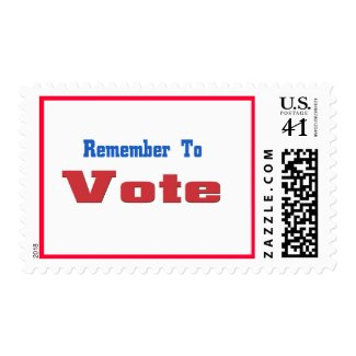 Remember to Vote stamp