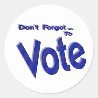 Don't Forget to Vote sticker