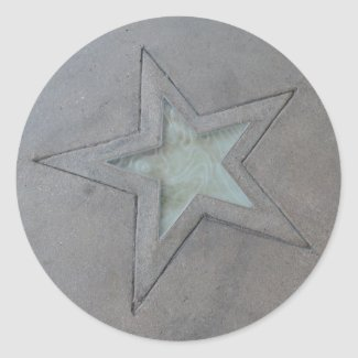 Star in Hollywood sticker