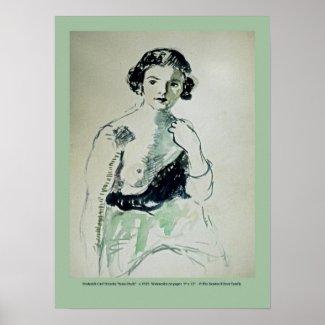 Frederick Carl Frieseke 'Semi-Nude' print