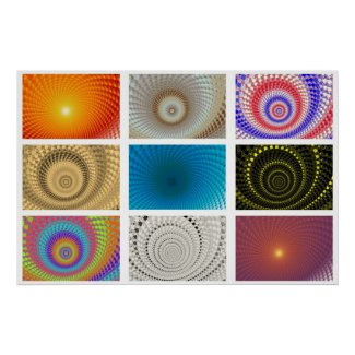 Tableau of Circles Poster print