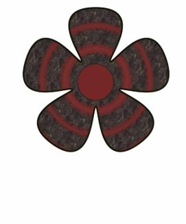 red and black flower shirt