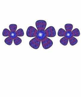 blue flowers shirt
