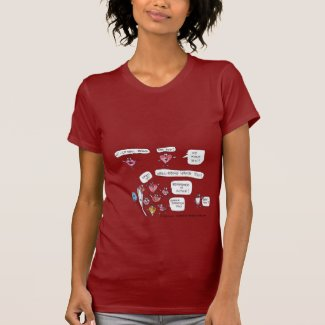 Well Being Wants You Cartoon Heart Lips T Shirt shirt